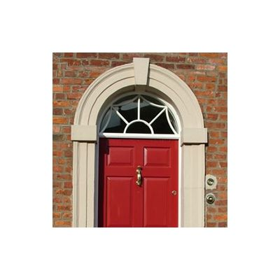 Georgian 6 Panelled door, frame & fanlight
