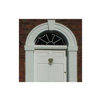 Georgian 6 Panel door, frame & fanlight