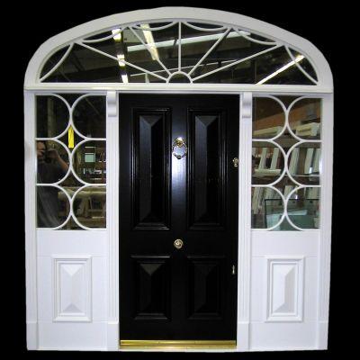 Stunning Georgian door , frame , fanlight  & sidepanels
