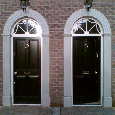 Georgian townhouse door , frame & fanlight