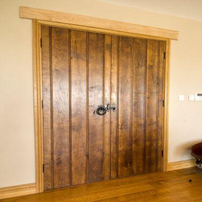 Double Braced And Beaded Cider Mill Door In Solid Oak