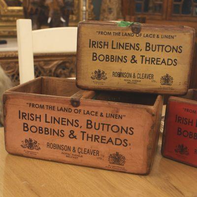 Vintage style Irish linens boxes