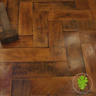 Beautiful Salvaged Original Hardwood Parquet Flooring