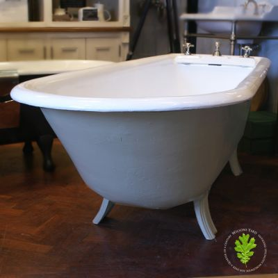 Restored Victorian Plunger Bath Of Generous Proportions.