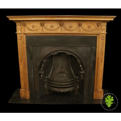 Late 19th century antique Georgian style Pine fireplace