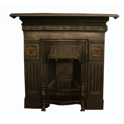 Beautiful Wheat sheaf cast iron fireplace