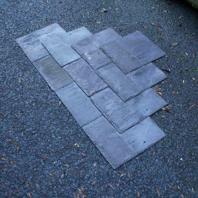 14 x 12 Reclaimed Bangor Blue Slates