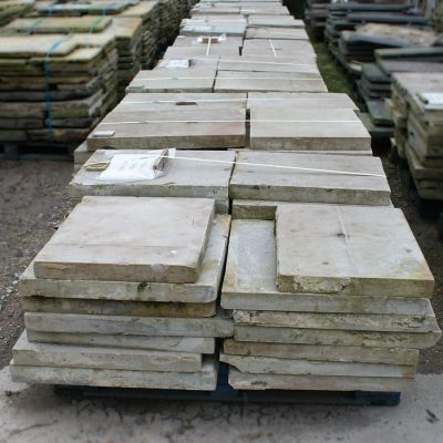 Reclaimed Six Sided Yorkstone Cathedral Flags