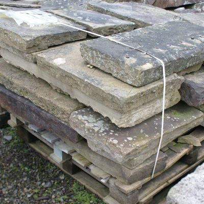 Reclaimed Cut Faced Yorkstone Paving Flags