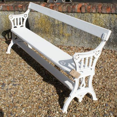 Late Victorian 3 seat garden bench / seat