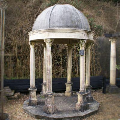 Antique style stone Garden temple ex - display