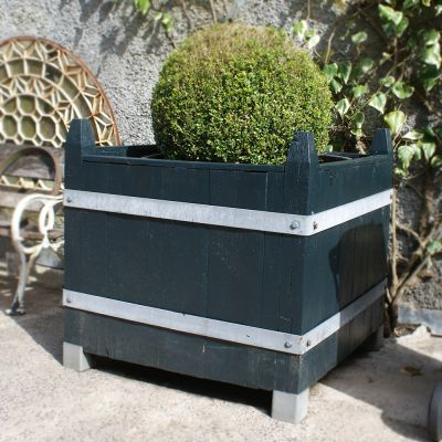 Beautiful Pair Boxed French Oak Planters