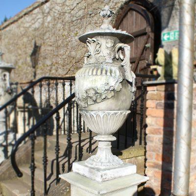 Swedish Vases on plinth