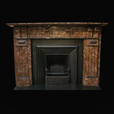 Splendid Edwardian French rouge Marble fireplace