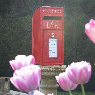Red Post box Square Top E-R