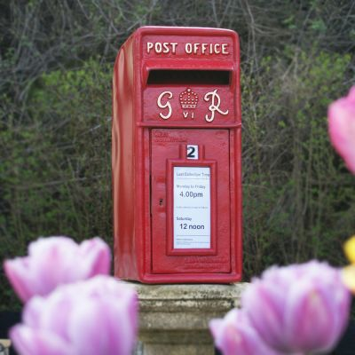 Red Post box Square Top G-R