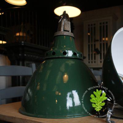 Green Industrial Factory Lights
