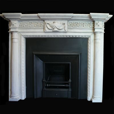 Impressive white Marble fireplace
