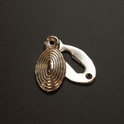 Solid Nickel Oval Beehive Escutcheon
