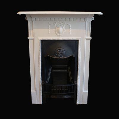 Victorian cast iron Art Nouveau style fireplace