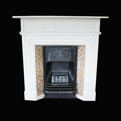 Edwardian tiled cast iron fireplace