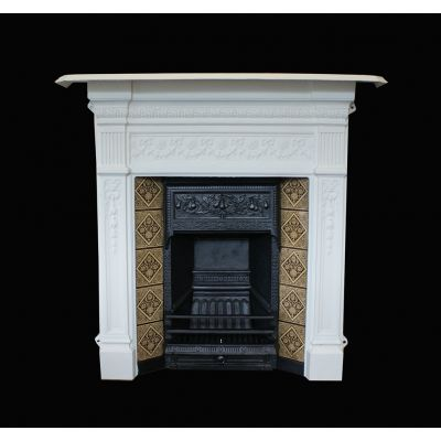 Beautifully restored Victorian tiled fireplace