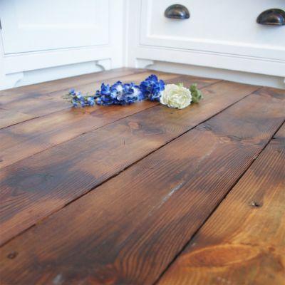 Reclaimed Pilkington brushed pine plank flooring - (finish1)