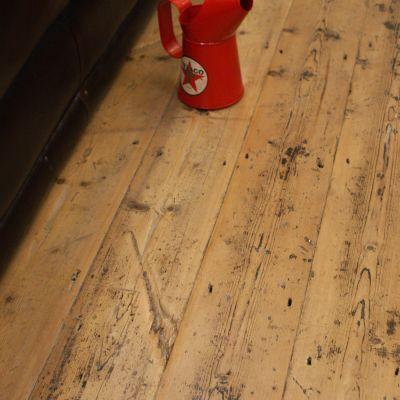 Original salvaged terrace pine flooring