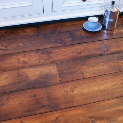 Reclaimed Pilkington brushed pine plank flooring - (finish 2)