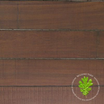 Reclaimed Ekki harwood (sawn face) timber cladding