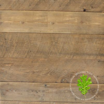 Reclaimed solid Pine RAF wall cladding