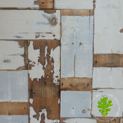 Reclaimed industrial pine wall cladding