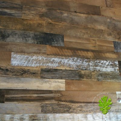 Reclaimed Amish mixed hard wood wall cladding