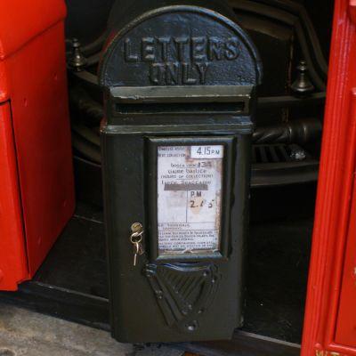 Irish Post Box Round Top