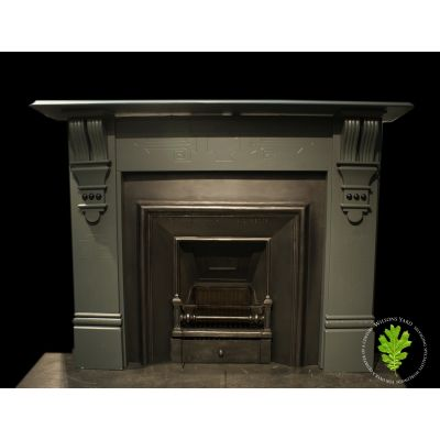 Beautifully restored Victorian painted slate fireplace