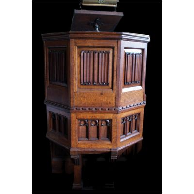 English Honey Oak Church Pulpit