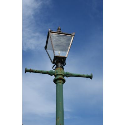 Original Victorian Street Lamp With Replacement Lanterns