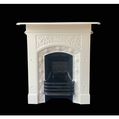 Petite Edwardian cast iron fireplace