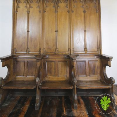 Original 19th century Gothic bishops throne