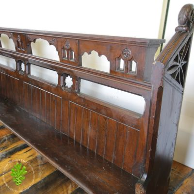 Highly Detailed Pitch Pine Pew Seats