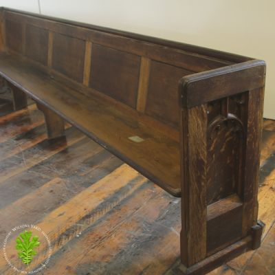 Large Oak church pew