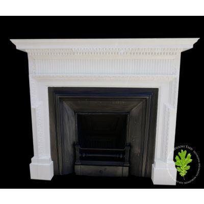 Edwardian painted pine fireplace