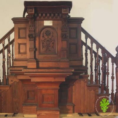 Original Pitch Pine Pulpit