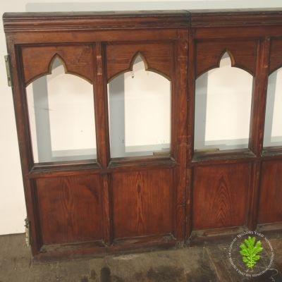 Pitch Pine hinged Gothic panels