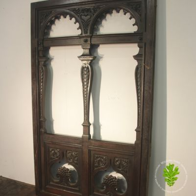 Hard wood hand carved colonial window / door