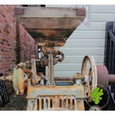 Vintage cast iron Barley crushing machine