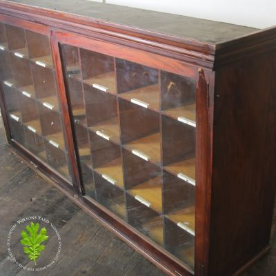 Pitch Pine Shelved Display Cabinet