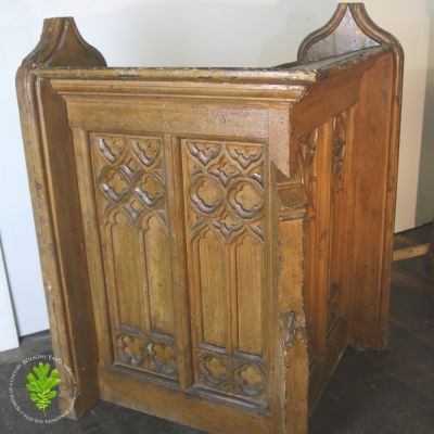 Pitch Pine Carved Corner Unit