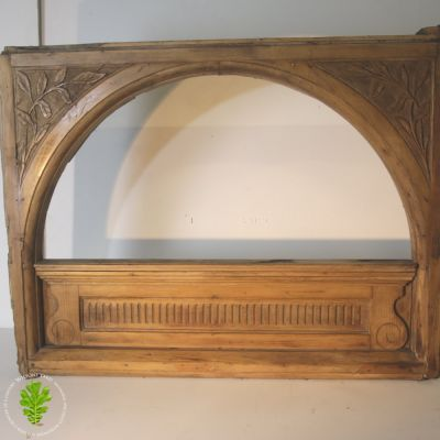 Hand carved wooden window surround