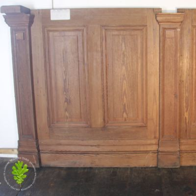 2 Pieces of Pitch Pine gallery paneling